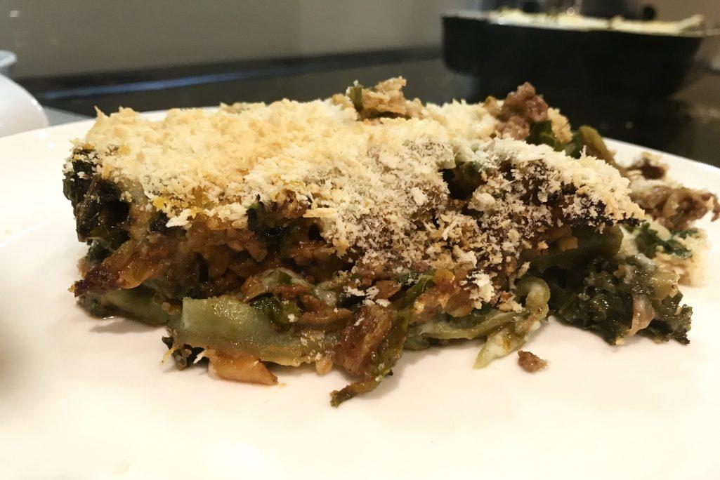 Moroccan lamb lasagne